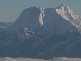Closer shot of Nuptse with Everest behind
