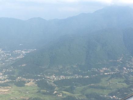 air pollution on a good day in Katmandu