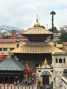 Pashupatinath Hindu Temple--15th century and so holy only Hindus' can walk on that side of the river.
