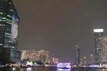 Bangkok from the river at night