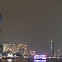 Bangkok from the river at night