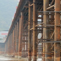 construction of high speed train paid by foreign powers and there's controversy about proposed dam projects