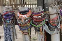 bracelets left where women were murdered by Pol Pot