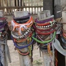 bracelets left where women were murdered by Pol Pot