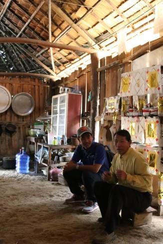 inside the shaman's home
