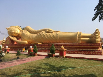 Reclining Buddha--transformation at death