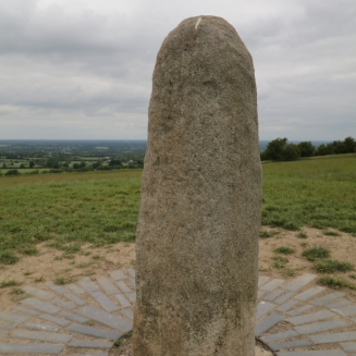Phallic stone at HIll of Tara, where ancient Kings of Ireland were crowned