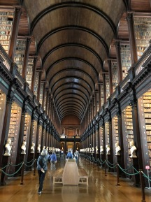 Library at Trinity college--be smart and prebook the very first tour (8:30 am) to see the book of Kells