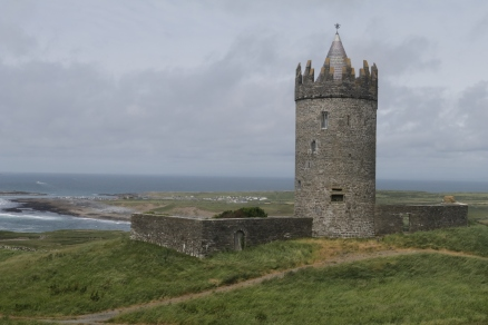 16th century Doonagore Castle sits above Doolin