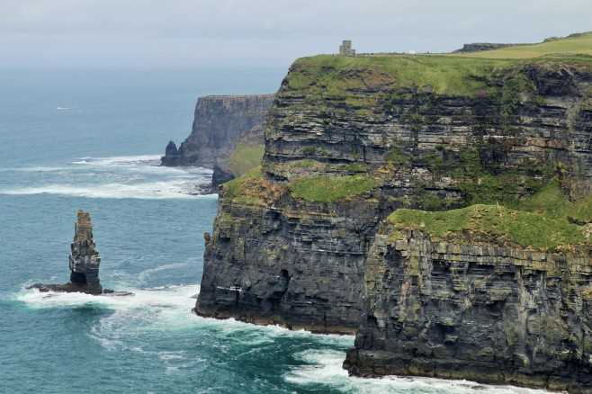 Cliffs of Moher, not to far from the visitor center in the middle of the walk