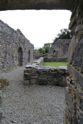 Many remains of inner courtyards