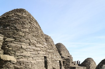 dry stacked stone dwellings with corabelled roofs kept the monks dry