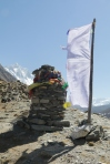 when prayer flags move in the wind, the intentions are released. In the mountains, those prayers reach heaven quickly